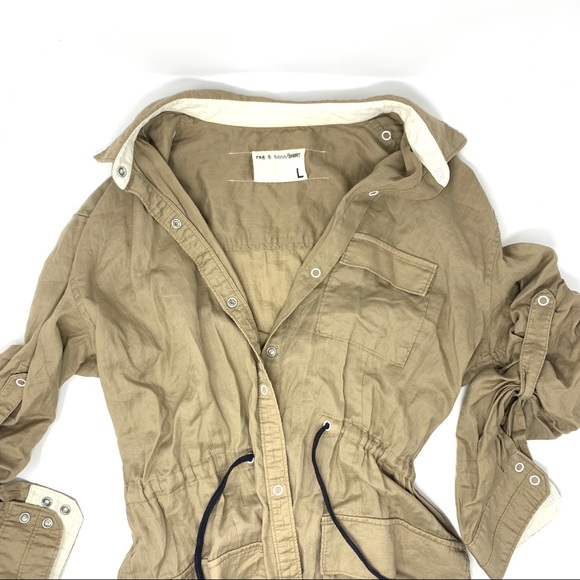 e44b0102a1ea rag & bone Tops | Rag And Bone Button Shirt Dress Khaki L Guc | Poshmark